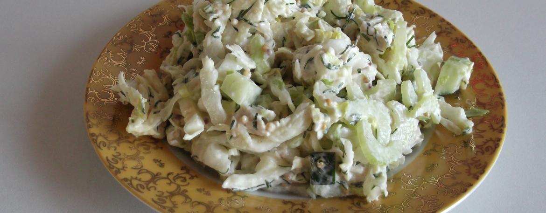 Салат из сельдерея с курицей фото