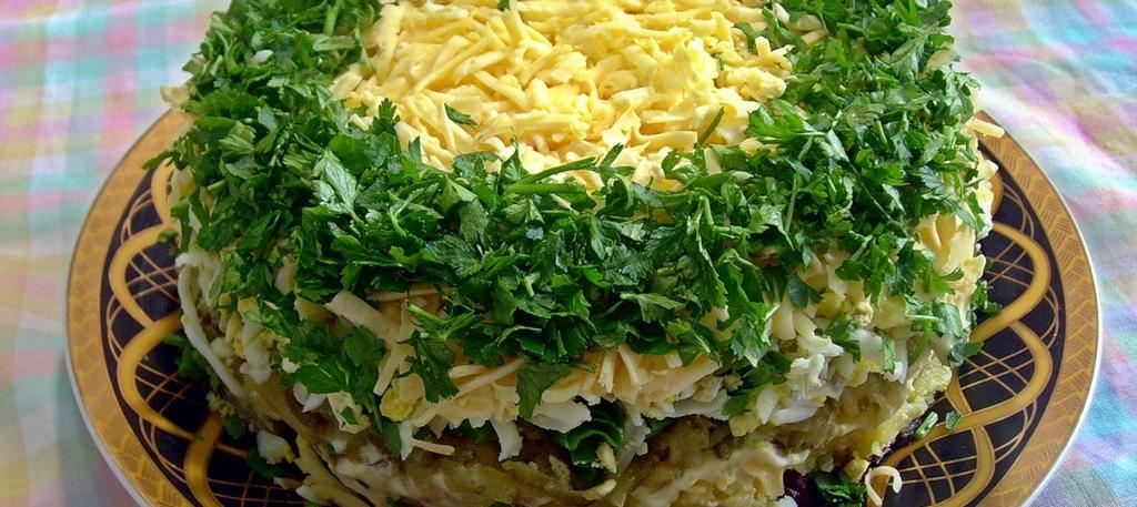 Салаты на праздничный стол рецепты с с фасолью