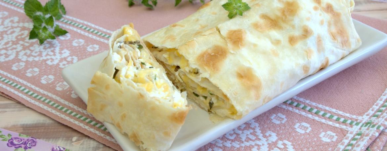 Рецепт пирога из лаваша с сыром и творогом рецепт с